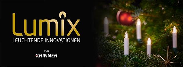 LUMIX SuperLight Flame – die Weltneuheit von KRINNER<br/> Spektakulär strahlendes Kerzenflackern auf dem nächsten Level