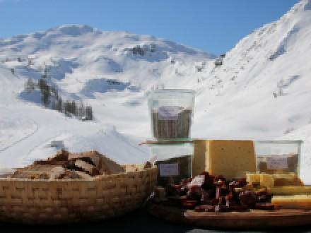 Ganz oben in Zauchensee schmeckt's besonders gut